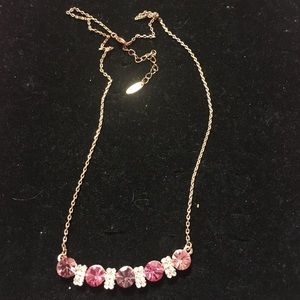 18KGP Rose Gold & Austrian Crystal Trio Necklace